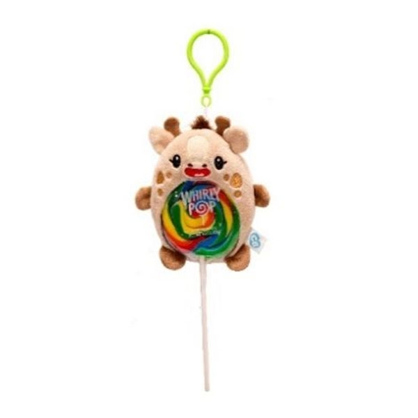GIRAFFE PLUSH CLIP WITH LOLLIPOP