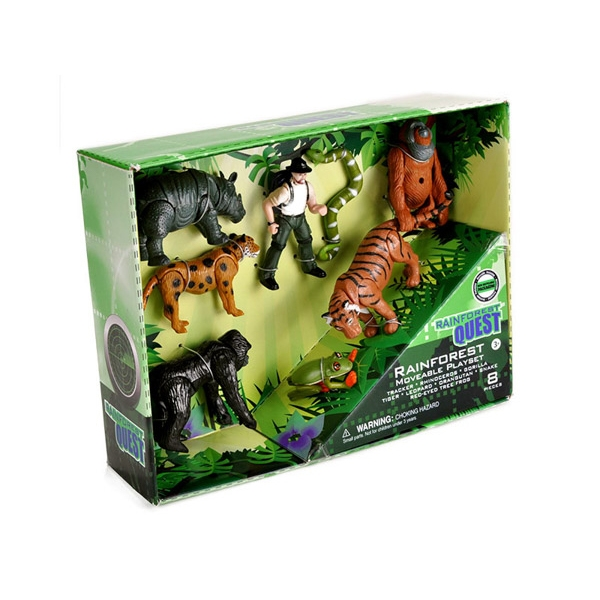 QUEST RAINFOREST MOVABLE ANIMALS SET