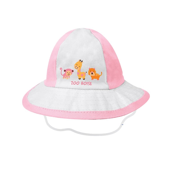 INFANT BUCKET HAT WITH ZOO ANIMALS