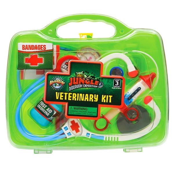 JUNIOR ZOOKEEPER VET KIT GREEN